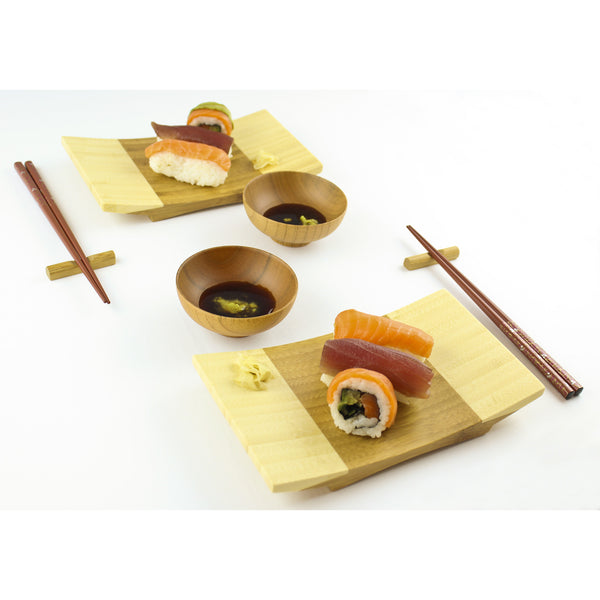 100% Natural Bamboo Sushi Gift Set for Two