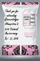 Custom Paris Chip Bags - Paris Themed Chip Bag Favors - TD Gift Solutions.com