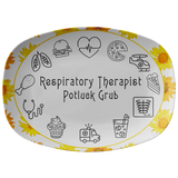 Sun Flower Serving Platter | Respiratory Therapy Serving Platter | Respiratory Therapy Potluck Grub - TD Gift Solutions.com