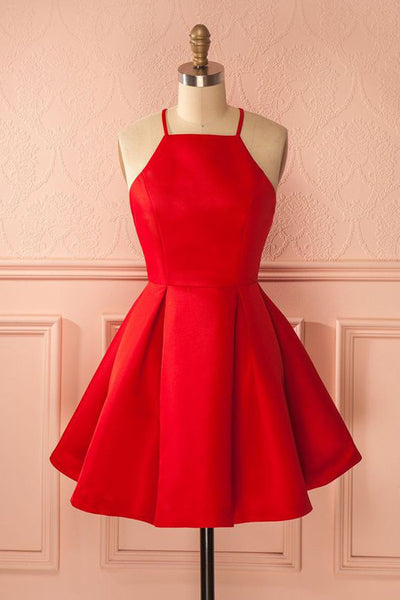 Short Straps Red Prom Dresses,Cheap Homecoming Dress for Girls,SH15