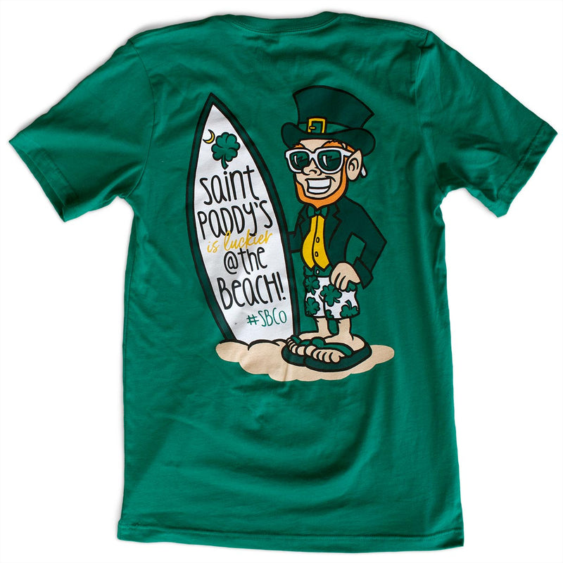 Saint Paddy's is Luckier @ the Beach! Unisex T-Shirt