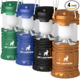MalloMe Camping Lantern LED Emergency Light Battery Powered 4 Pack - SUPER BRIGHT CAMP LAMPS - Portable Indoor & Outdoor Hurricane Supplies - AA Batteries Not Included (Multicolored) - MalloMe