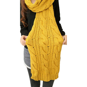 Cable Knit Shawl - PicaPicaBeauty
