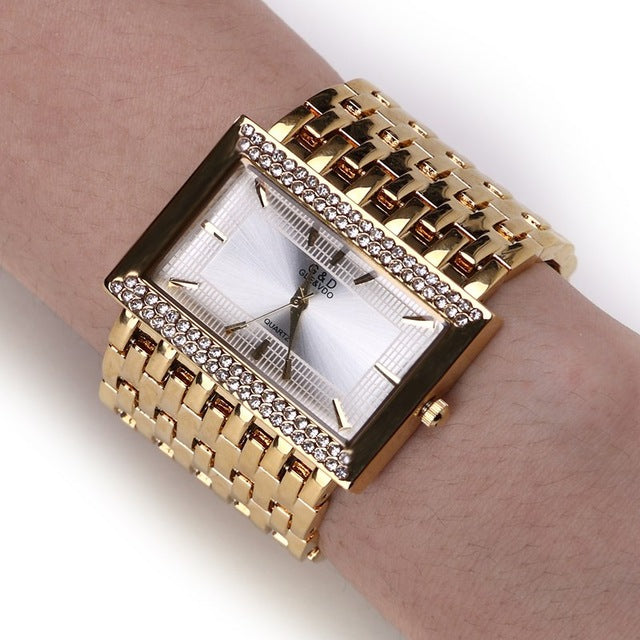 Luxury Fashion Wide Strap Watch - PicaPicaBeauty