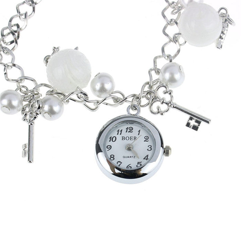 Ultra Thin Cool Ladies Charms Bracelet Wrist Watch - PicaPicaBeauty