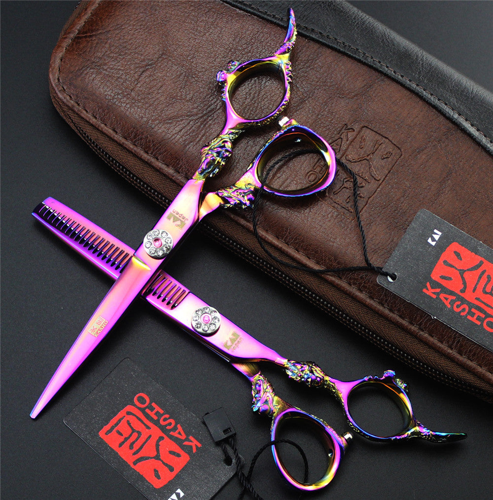 KASHO Hair Scissors Professional Hairdressing Scissors Barber Shears Hair Cutting 6.0 inch - PicaPicaBeauty