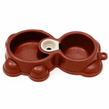 Pet Accessories Bear Shape Pet Double Bowl Dog Water Food Dispenser...FREE SHIPPING...