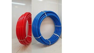 "3/4"" 600'~300' RED & 300' BLUE Certified Non-Barrier PEX Tubing Htg/Plbg"