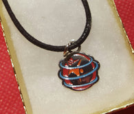 Unique WSC metal painted charm with leather necklace - World Salsa Championships