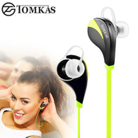 TOMKAS Bluetooth 4.0 Sport Earphone Wireless Headset Stereo Mic Music Hands Free In-ear Bluetooth Earphone  For iPhone 6 7 Phone - World Salsa Championships