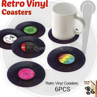 Vinyl Mat  63D Vintage CD Record Cup Drinks Coasters Coffee Placemat - World Salsa Championships