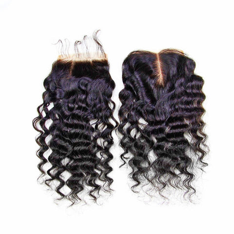 BVH Virgin Remy Curly Closure Collection