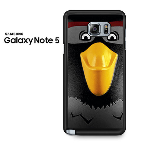 Black Angry Birds Face Samsung Galaxy Note 5 Case