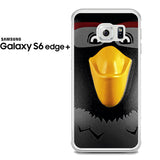 Black Angry Birds Face Samsung Galaxy S6 Edge Plus Case