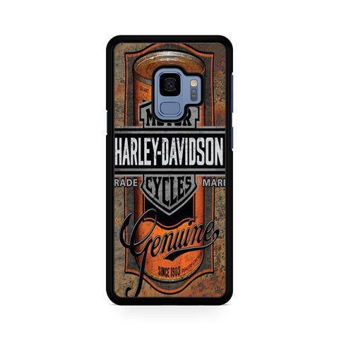 Harley Davidson Oil Can Label Samsung Galaxy S9 Case