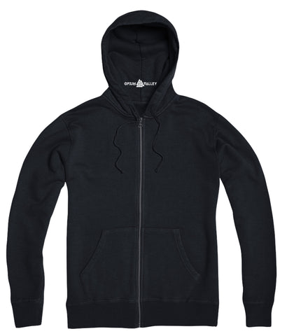 Blue- Zipper Hoodie - Opium Valley