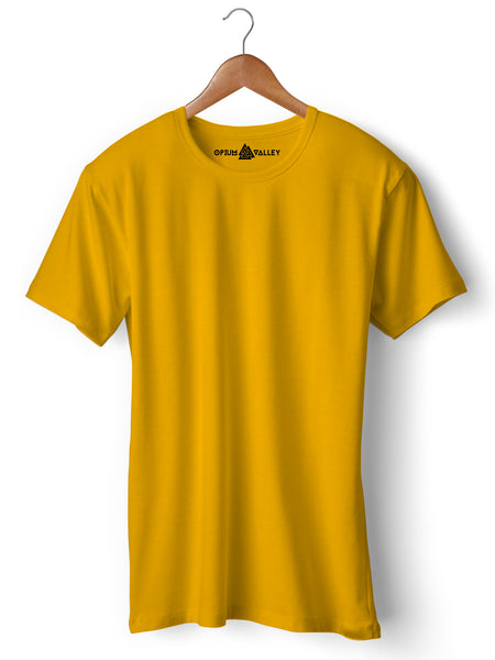 Golden Yellow - Round Neck T-Shirt - Opium Valley