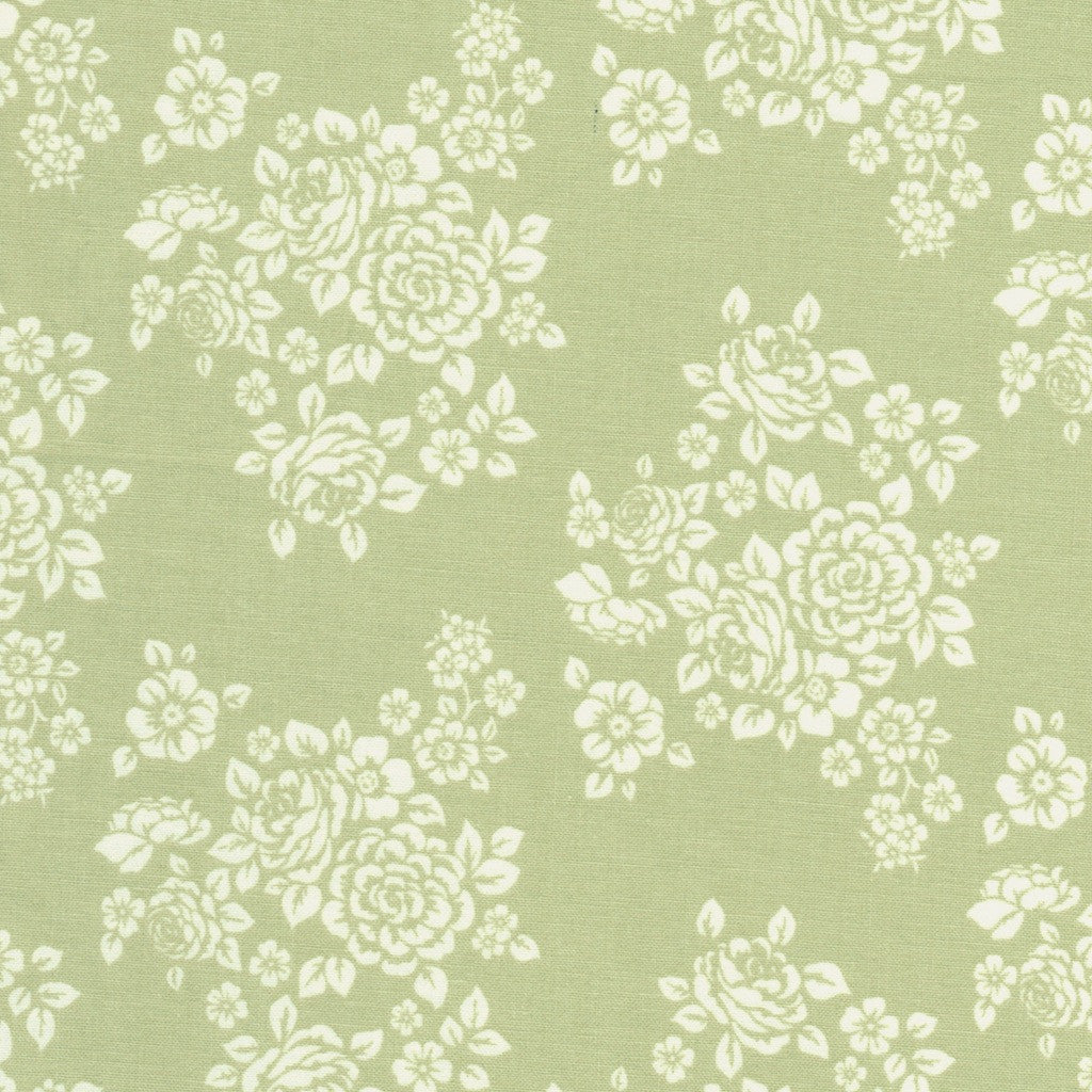 Anne of Green Gables Flower Bouquet Fabric on Green