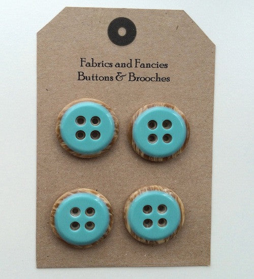 Iced Circle Top Turquoise Buttons