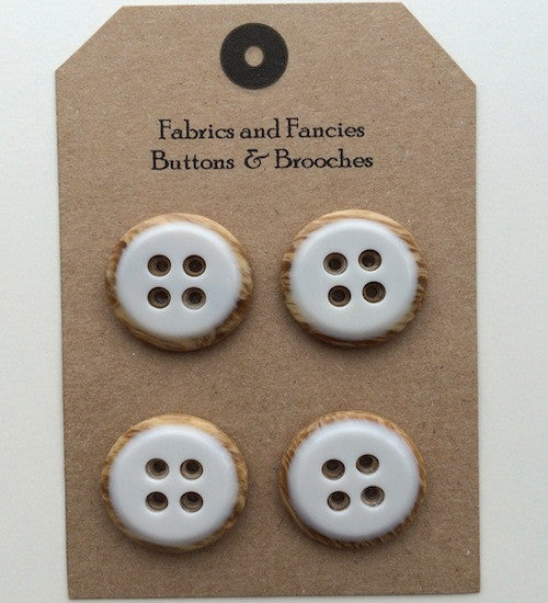 Iced Circle Top White Buttons