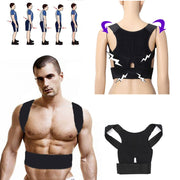 Online discount shop Australia - Men Women Adjustable Magnetic Posture Corrector Belt Braces Support Body Back Corrector Shoulder Plus Size
