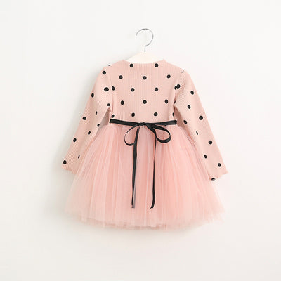 Online discount shop Australia - Girls Dress Casual Girls Dress Children Clothing Ball Gown Dot Print Kids Clothes Girls Dresses Princess Dress