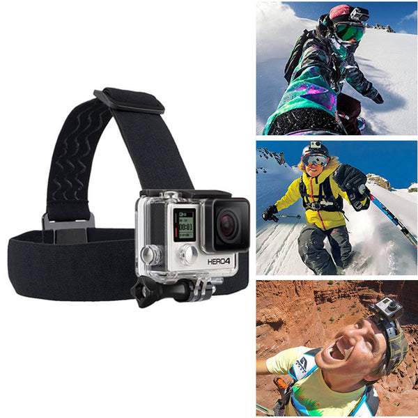 Online discount shop Australia - Head Strap For Action Camera Gopro Hero 4 5 Black Elastic Type For Sport Cameras Xiao Mi Yi SJ4000/SJ5000 Accessories