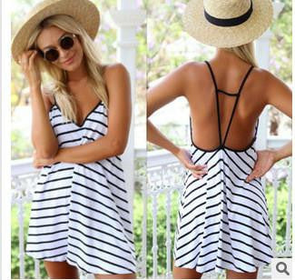summer v-neck empire dress women robe robe hippie casual clothes dresses