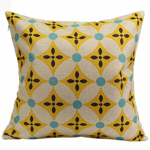 Vintage Geometric Flower Cotton Linen Throw Pillow Case Cushion Cover Home A6UL