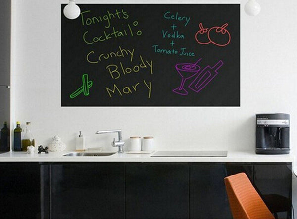 Online discount shop Australia - 45CMx200CM Wall Stickers Blackboard Sticker Children Drawing Toy Vinyl Chalkboard Decor Mural Decals Art Chalkboard High Quality