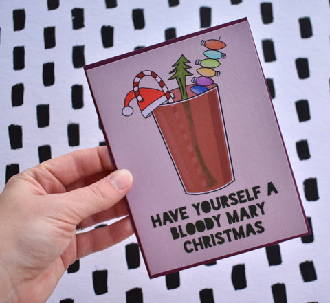 Have Yourself a Bloody Mary Christmas Card