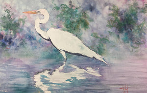The Art of Ward Jene Stroud - Weekly Vlog #2 The Great White Heron