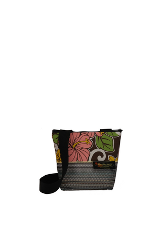 Maui Nui Wear Eco-Friendly Small Mesh Tote Bag Floral `Ea Malani