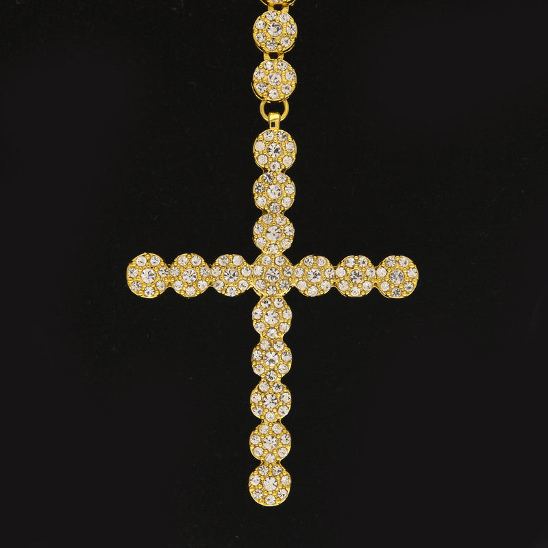 Iced Rosary Cross Chain