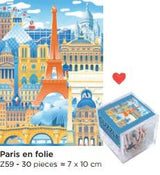30 piece Cuzzle Kids Puzzle - Paris en Folie - Petite France Australia