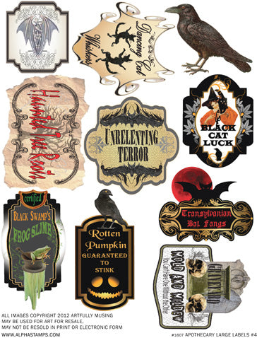 Apothecary Large Labels #4 Collage Sheet