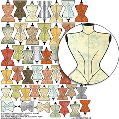 Dress Forms #2 Collage Sheet