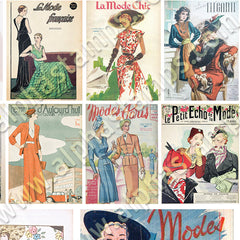 Mini French Fashion Magazines Collage Sheet