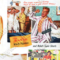 Sexy Vintage Men Collage Sheet