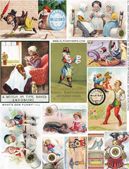 What's Sew Funny Collage Sheet
