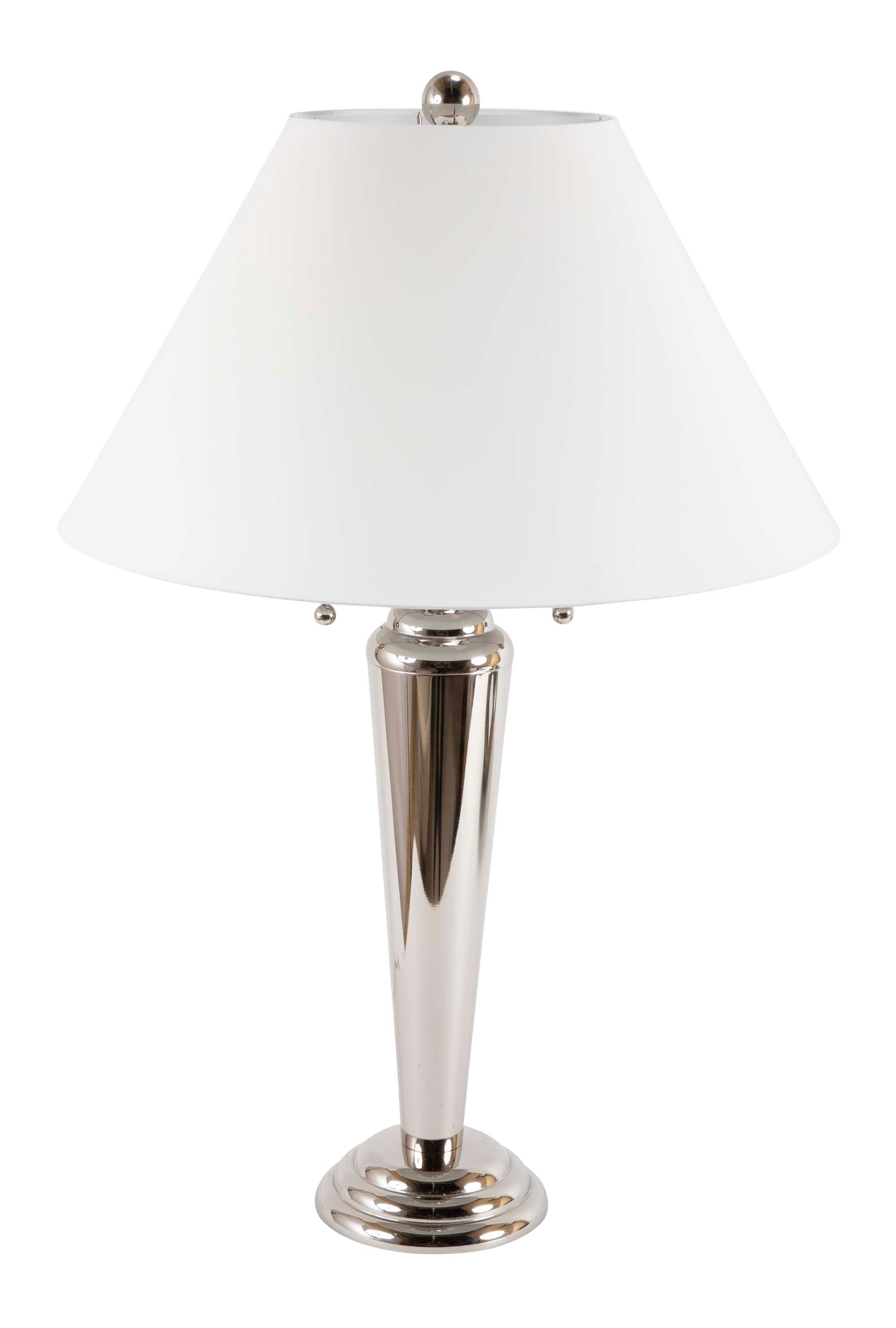 Pair of Stiffel Chrome Lamps