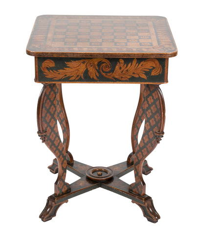 Regency Painted Chess Table