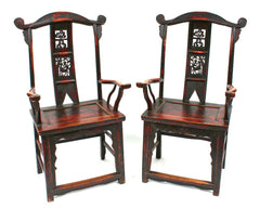 Pair of Lacquered Arm Chairs
