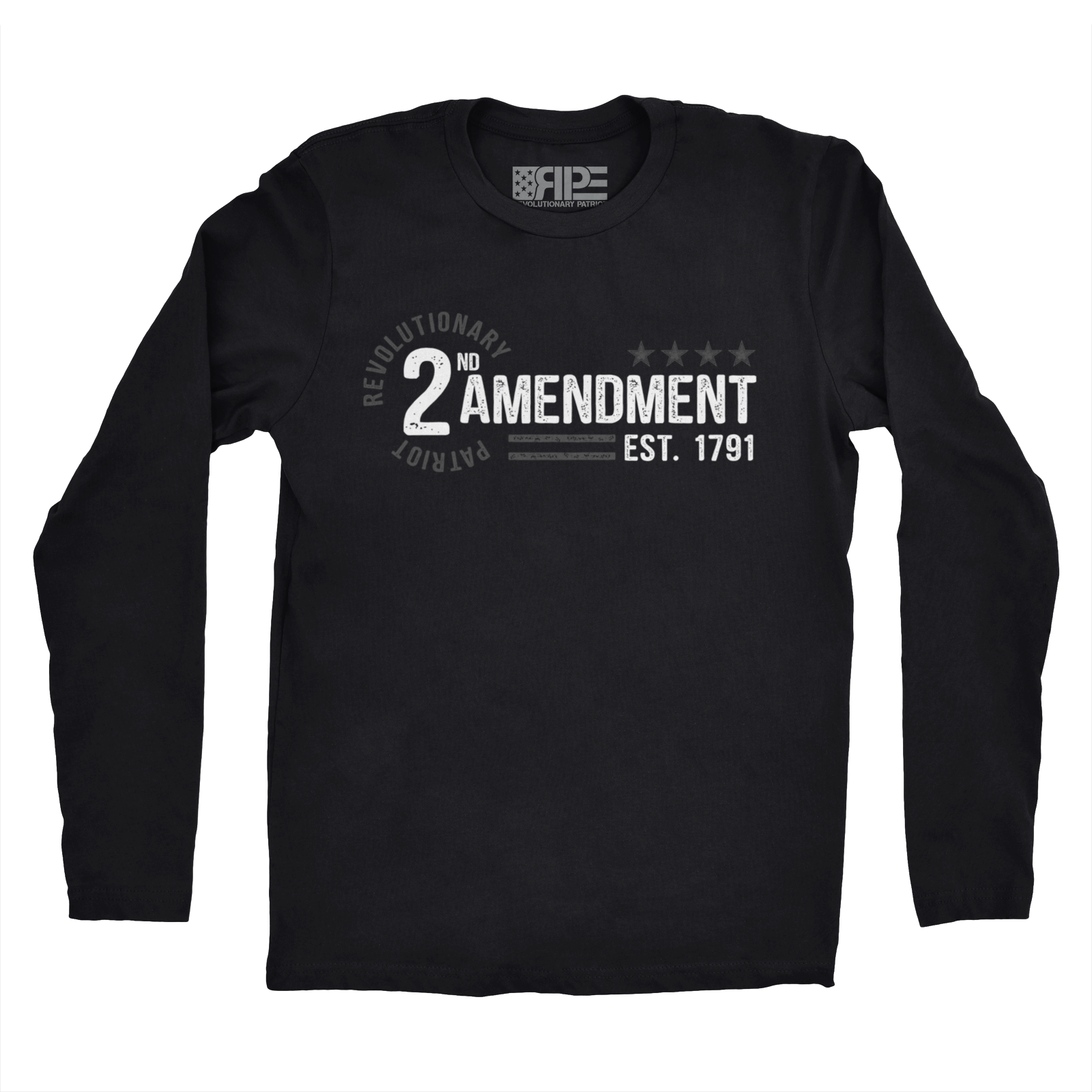 2nd Amendment - Est. 1791 Long Sleeve (Black)