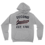Second Amendment Collegiate Hoodie (Heather Grey)
