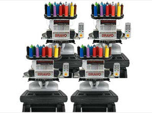 Melco Bravo Embroidery Machine Bundle Package E