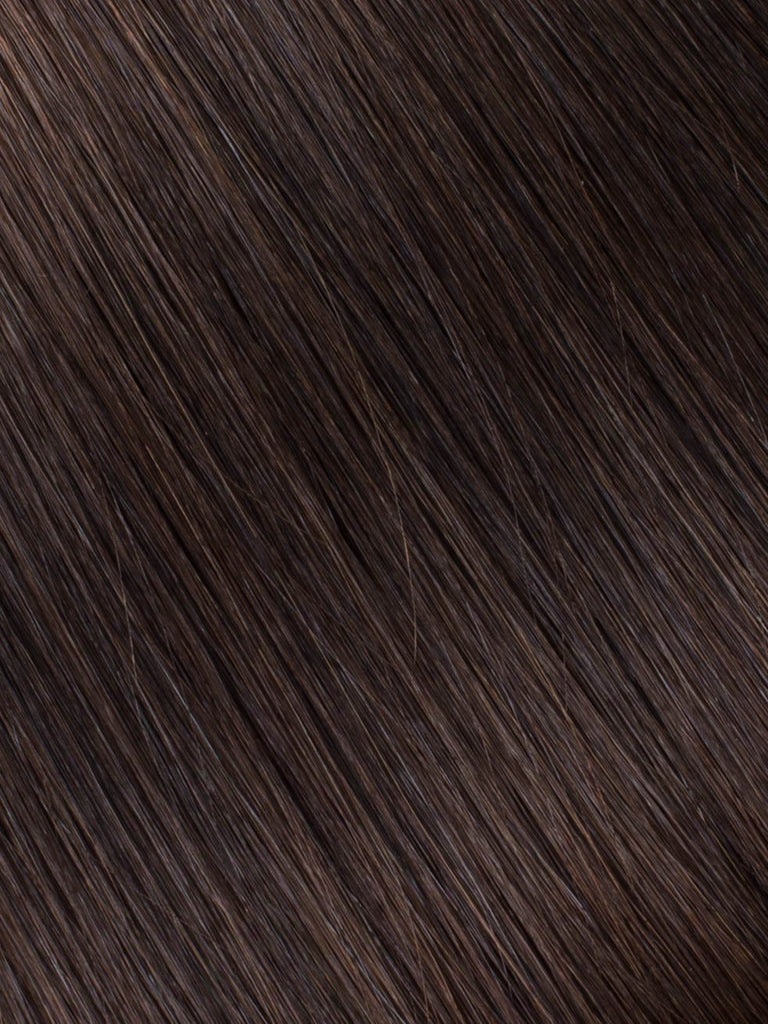 "BELLAMI Professional Tape-In 30"" 65g  Dark Brown #2 Natural Straight Hair Extensions"