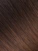 "BELLAMI Professional Tape-In 32"" 65g  Mochachino Brown/Chestnut Brown #1C/#6 Ombre Straight Hair Extensions"