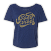 Good Vibes Slouchy Tee - Navy
