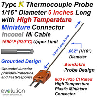 Thermocouple Sensor Type K Grounded 6